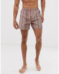 Paul Smith Lightweight Pyjama Short In Multi Stripe - Multicolour