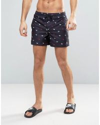 D-Struct - D Struct Swim Shorts With Mini Origami Print - Lyst