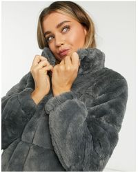 New Look Faux-fur Puffer - Gray