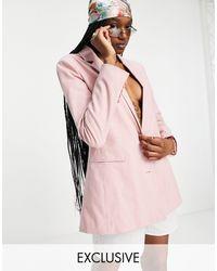 Reclaimed (vintage) Inspired Blazer - Pink