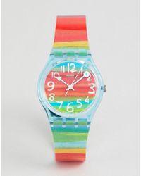 Swatch - Gs124 Original Colour The Sky Stripe Watch - Lyst