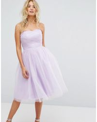 Hell Bunny Bandeau Tulle Dress - Purple