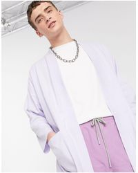 ASOS Lightweight Jersey Kimono Cardigan - Purple