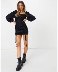 Urban Bliss Robe courte froncée - Noir