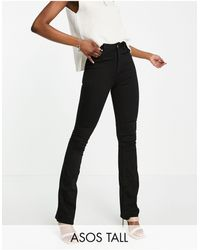 ASOS Asos Design Tall Hourglass High Rise 'lift And Contour' Flare Jeans - Black