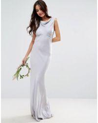 ASOS - Design Bridesmaid 40s Seamed Maxi Dress - Lyst