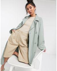 Weekday Karlee - Trench-coat souple - sauge - Vert