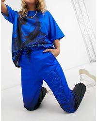 Bershka Синие Джоггеры От Комплекта X Billie Eilish-синий