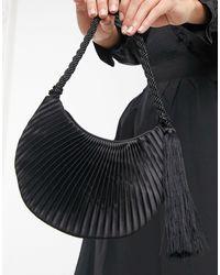 Mango Pleated Bag - Black