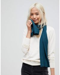 French Connection Soft Knit Scarf - Blue