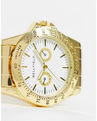 Bellfield Золотистые Мужские Часы-браслет С Циферблатом -золотистый - Металлик
