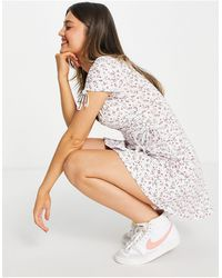Hollister Scoop Neck Dress - White