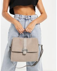 Reiss Mae Suede Shoulder Bag - Grey