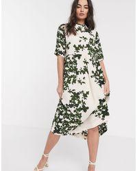 Ichi Printed Midi Dress - Multicolor