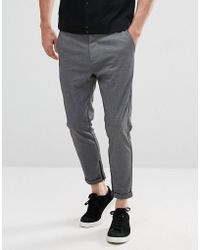 SELECTED - Smart Pants With Zip Ankle - Lyst