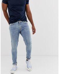 Nudie Jeans Skinny Lin - Jean skinny - Bleu clair power