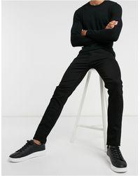 SELECTED – Enge Jeans mit Bio-Baumwolle - Schwarz