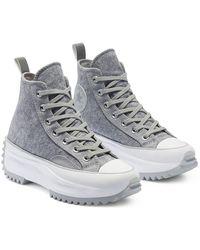 Converse Run Star Hike Hi Felt Sneakers - Gray