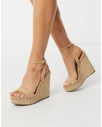 ASOS Topic Espadrille Wedges - Natural