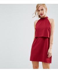 ASOS - Double Layer Dress With High Neck - Lyst