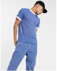 ASOS - Camiseta azul - Lyst