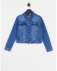 Love Moschino Синяя Джинсовая Куртка С Логотипом На Спине -голубой - Синий