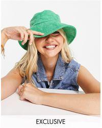 Glamorous Зеленая Махровая Панама Exclusive-зеленый Цвет