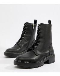 Pull&Bear - Lace Front Cleated Sole Hiker Boot - Lyst