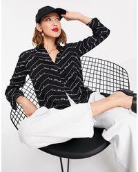 Love Moschino Черная Блузка Со Сплошным Принтом Из Логотипов -черный