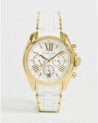 4aa9fccb60d26 Michael Kors - Reloj de mujer con cronmetro en blanco y dorado MK6578 de -  Lyst