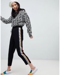 Monki - Rainbow Stripe Joggers - Lyst