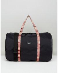 ASOS - Barrel Bag With Taping Detail In Black - Lyst