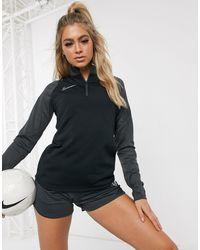 Nike Football Academy - Top con zip nero