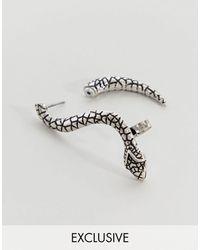 Reclaimed (vintage) Inspired – ne Ohrringe mit Schlangendesign – Exklusiv nur bei ASOS - Mettallic