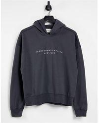 Abercrombie & Fitch Logo Hoodie - Grey