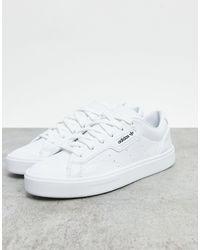 adidas Originals Белые Кроссовки Vegan Sleek-белый