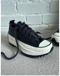 Converse - Черные Кроссовки На Подкладке С Верхом Из Кожи С Искусственным Мехом Run Star Hike-черный Цвет - Lyst