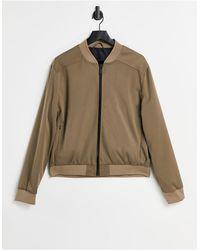 River Island Светло-коричневая Куртка-бомбер Из Твила -коричневый Цвет - Многоцветный