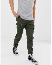 Jack & Jones Intelligence - Pantalon cargo coupe slim - Vert