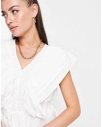 Vero Moda Sleeveless Frill Blouse - White
