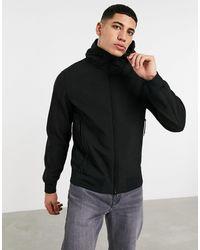 C.P. Company Черная Куртка С Капюшоном Из Мягкого Материала С Линзой На Рукаве C.p. Company-черный