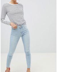 New Look - Vanessa Super Skinny High Rise Frayed Hem Jean - Lyst