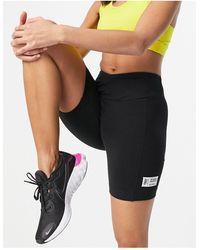 ASOS 4505 Booty legging Short With Wrap Waist Detail - Black