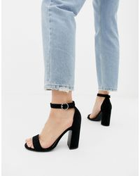 New Look Barely There Heeled Sandal - Black