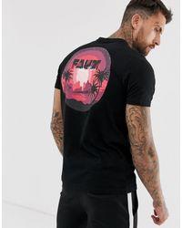 Friend or Faux Mellow - T-shirt con stampa sul retro - Nero