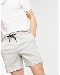 TOPMAN Shorts color piedra a rayas - Multicolor
