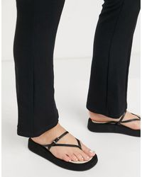 ASOS Fateful Chunky Flip Flop Sandals - Black