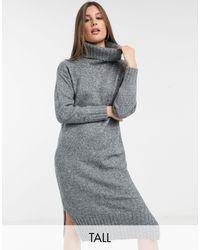 New Look - Темно-серое Платье-водолазка -серый - Lyst