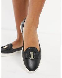 Fiorelli Mia Leather Loafers - Black