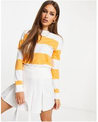 UNIQUE21 Свитшот В Белую И Оранжевую Полоску -оранжевый Цвет